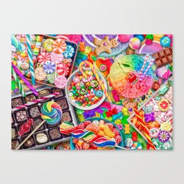 Candylicious Canvas Print