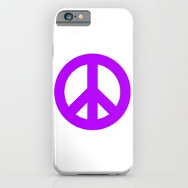 Purple Peace Sign, Power of Peace, Power of Love, Social Justice Warrior, Super Sharp PNG iPhone Case