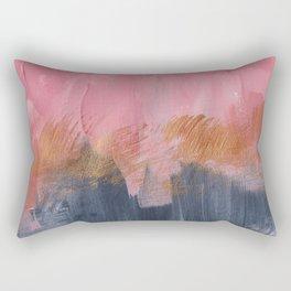Abstract acrylic || Pink, black & gold Rectangular Pillow
