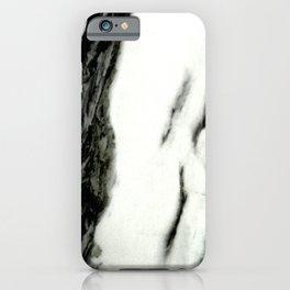 Ebony White Marble With Captivating Black Veins iPhone Case