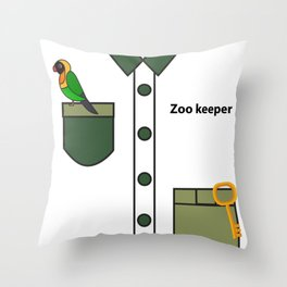 Zookeeper Halloween Costume For Boys And Men Gifts Throw Pillow