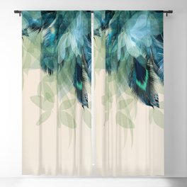 Beautiful Peacock Feathers Blackout Curtain