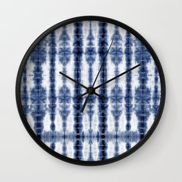 Tiki Shibori Blue Wall Clock