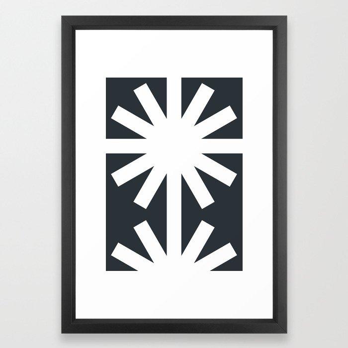 Spring (Black) Gerahmter Kunstdruck
