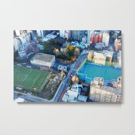 Looking Down from Tokyo Tower Metal Print