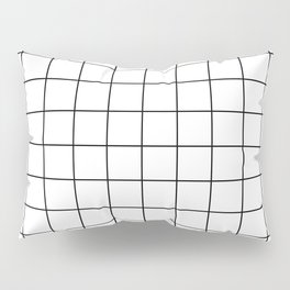 Grid Pattern Stripes Lines Black and White Minimalist Geometric Stripe Line Pillow Sham