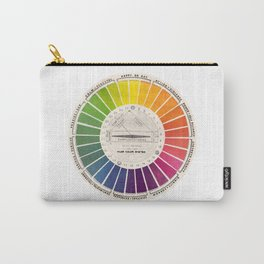 Vintage Color Wheel Art Teaching Tool Rainbow Mood Chart Carry-All Pouch