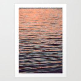 Sunset on the water Art Print