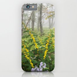 Smoky Mountain National Park -  Wildflower Foggy Forest iPhone Case