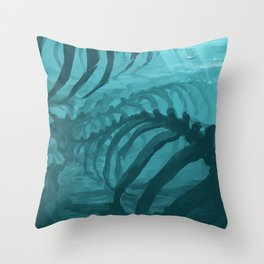 They can smell your fear Throw Pillow