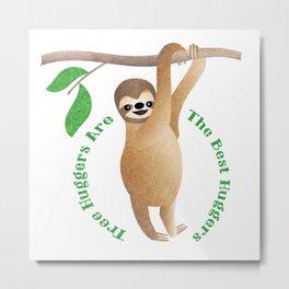Tree Hugger Sloth Metal Print