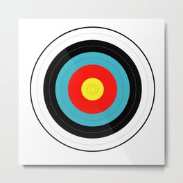Isolated Target Metal Print