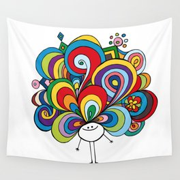 Poofy Angela Wall Tapestry