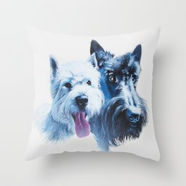 Doggie Friends Throw Pillow