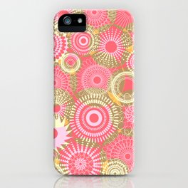 Kooky kaleidoscope Coral iPhone Case