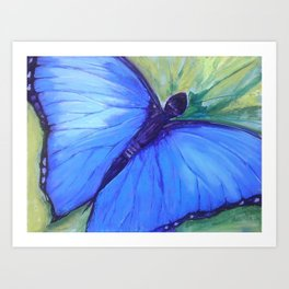 Blue Butterfly: Transfiguration Art Print
