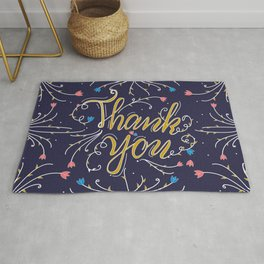 Thank you #hand lettering Rug