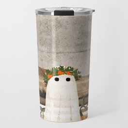 There's a Ghost in the Pumpkins Patch Again... Travel Mug