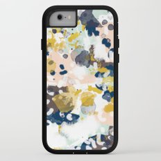 Sloane - Abstract painting in modern fresh colors navy, mint, blush, cream, white, and gold iPhone 7 Adventure Case