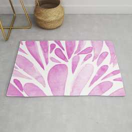 Watercolor artistic drops - pink Rug
