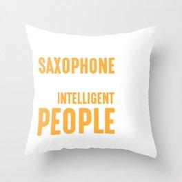Saxaphone Musical Instrument Sax Player Throw Pillow