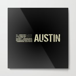 Black Flag: Austin Metal Print