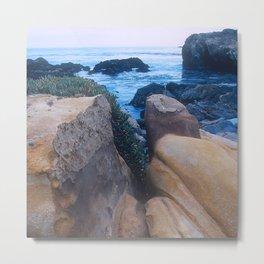 """Private - No Trespassing"" Rugged, Rocky Coastal Cove Metal Print"