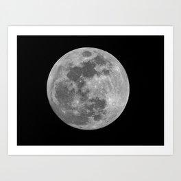 full moon photography Art Print