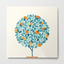 Tropical Mango Tree Metal Print