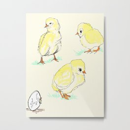 Chick Party Metal Print