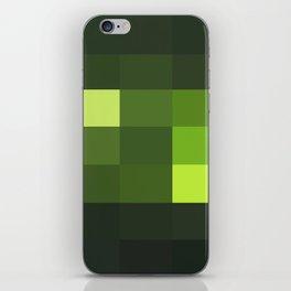 Green Yellow Blocks iPhone Skin