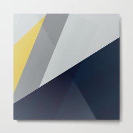 Paint blocks mid century modern textured art stripes Metal Print