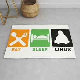 eat sleep linux Rug