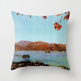 Stresa Borromeo Lake Maggiore 1927 Throw Pillow