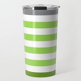 Stripes Gradient - Green Travel Mug