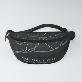 Connecticut State Road Map Fanny Pack