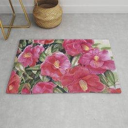 Jardin en fleurs / Watercolor of Camellia Japonesa Rug