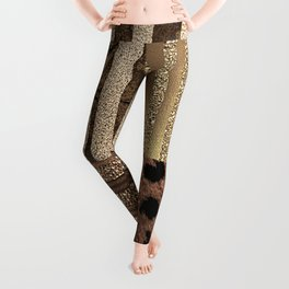 Gold Lioness Safari Chic Leggings