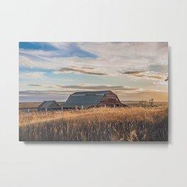 The Creepy House Property, North Dakota 4 Metal Print
