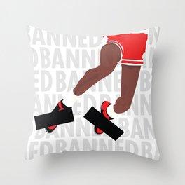 Banned (White) Throw Pillow