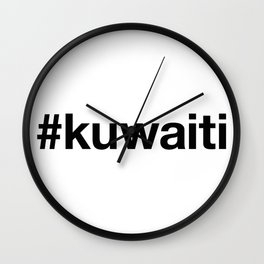 KUWAITI Hashtag Wall Clock