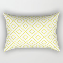 Yellow Diamond Pattern 2 Rectangular Pillow
