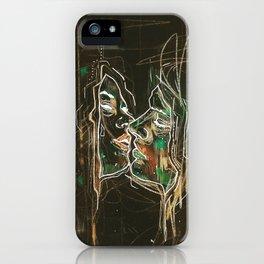 Black kiss iPhone Case