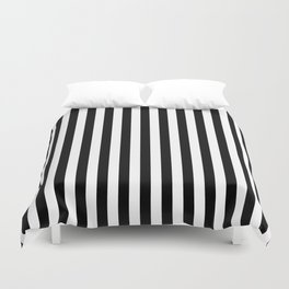 Stripe Black And White Vertical Line Bold Minimalism Stripes Lines Duvet Cover