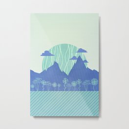 Geometric Valley Metal Print