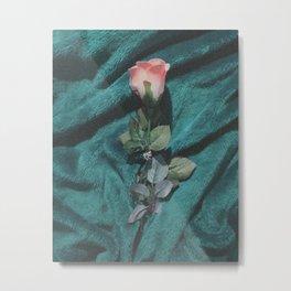 fake pink rose Metal Print