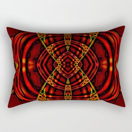 Red Maniac Rectangular Pillow