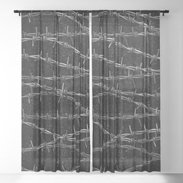 Bouquets of Barbed Wire Sheer Curtain