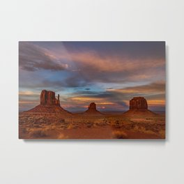 Oljato-Monument_Valley 0122 - Sunset Metal Print