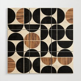 Mid-Century Modern Pattern No.1 - Concrete and Wood Wood Wall Art
